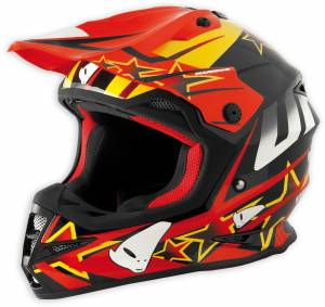 UFO Warrior Motocross Helmet - Spark