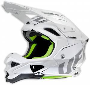 UFO Diamond White Motocross Helmet