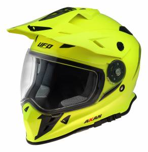 UFO Akan Neon Yellow Dual Sport Helmet