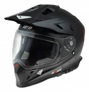 UFO Akan Solid Black Dual Sport Helmet