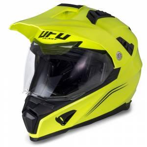 UFO Aries Neon Yellow Dual Sport Helmet