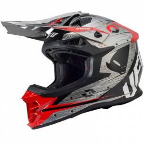 UFO Intrepid Grey Red Motocross Helmet