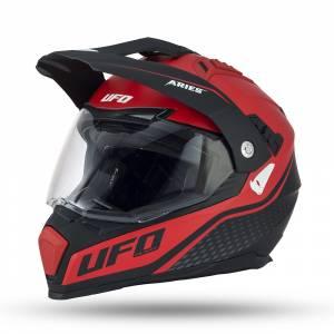 UFO Aries Black Red Dual Sport Helmet