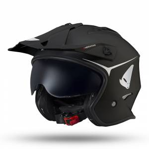 UFO Sheratan Jet Black Open Face Helmet