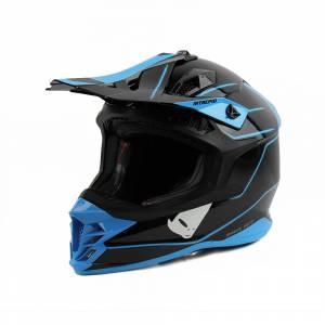 UFO Intrepid Black Blue Motocross Helmet