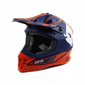 UFO Intrepid Blue Orange Motocross Helmet