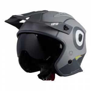 UFO Sheratan Jet Grey Open Face Helmet
