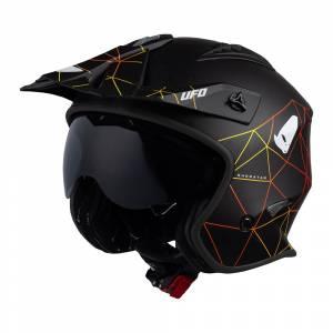 UFO Sheratan Jet Black Net Open Face Helmet