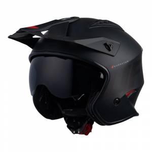 UFO Sheratan Jet Black Matt Open Face Helmet