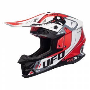 UFO Intrepid Red White Motocross Helmet
