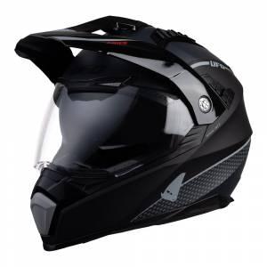 UFO Aries Tourer Crossover Black Grey Dual Sport Helmet