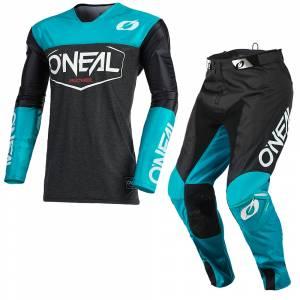 ONeal Mayhem Hexx Black Teal Motocross Kit Combo