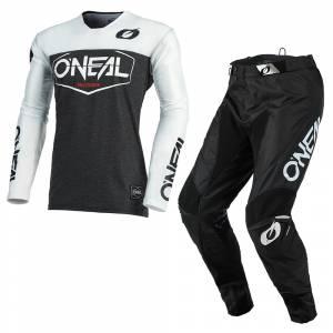 ONeal Mayhem Hexx Black White Motocross Kit Combo