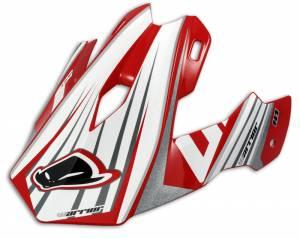 UFO Warrior H1 Red Motocross Helmet Peak