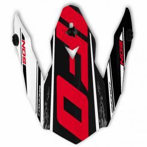 Onyx Helmet Peak - NOS Black White Red