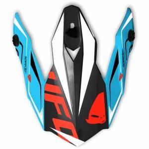 UFO Onyx Speeder Black Blue Red Helmet Peak