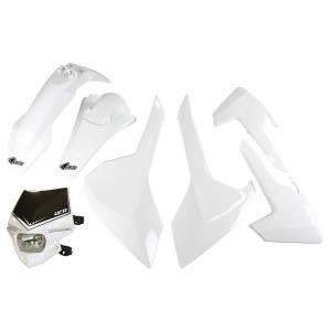 UFO Plastic Kit Husqvarna TE-TX FE White
