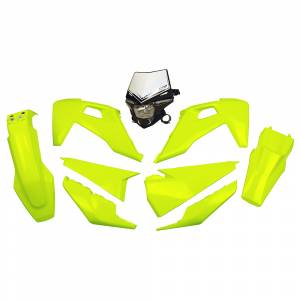 UFO Plastic Kit Husqvarna TE-TX FE Fluo Yellow