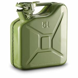 Steel Jerry Can Olive Green - 5 Ltr
