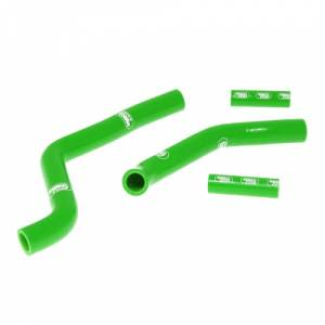 Samco Sport 5 Piece Coolant Hose Kit Kawasaki KX 250 (05-07) - Green