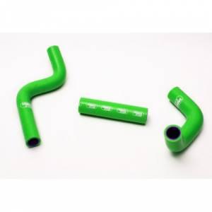 Samco Sport 3 Piece Coolant Hose Kit Kawasaki KX 80/85 (98-13) - Green