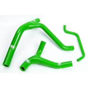 Samco Sport 3 Piece Coolant Hose Kit Kawasaki KLX 450 (07-14) KXF 450 (06-08) - Green