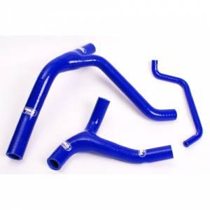 Samco Sport 4 Piece Coolant Hose Kit Kawasaki KX 500 (83-14) - Blue