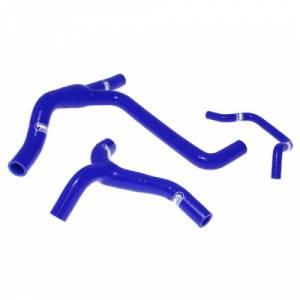 Samco Sport 3 Piece Coolant Hose Kit Kawasaki KXF 450 (10-11) - Blue