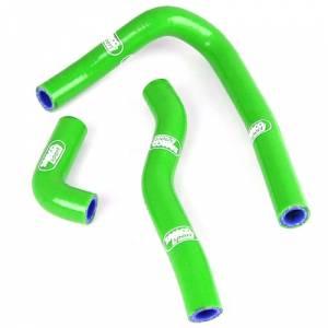 Samco Sport 2 Piece Coolant Hose Kit Kawasaki KX 65 (00-On) - Green