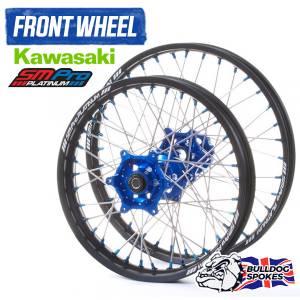 SM Pro Platinum Kawasaki Blue Front Bulldog Spokes