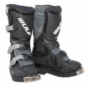 Wulfsport Kids LA Black Motocross Boots