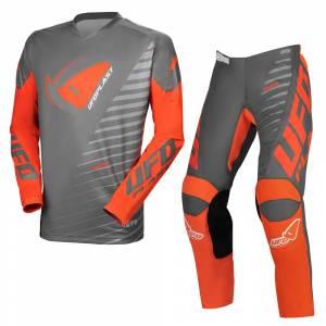 UFO Kimura Grey Orange Motocross Kit Combo