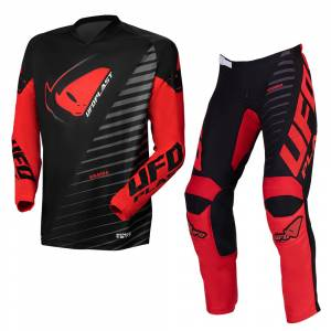 UFO Kimura Black Red Motocross Kit Combo