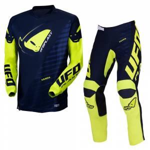 UFO Kimura Blue Yellow Motocross Kit Combo