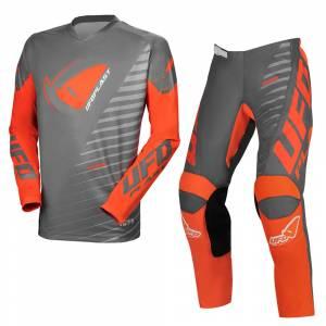 UFO Kids Kimura Grey Orange Motocross Kit Combo
