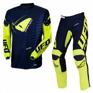 UFO Kids Kimura Blue Yellow Motocross Kit Combo