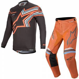 Alpinestars Racer Braap Dark Grey Fluo Orange Motocross Kit Combo