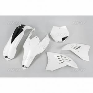 UFO Plastic Kit KTM SX SXF (09-10) White
