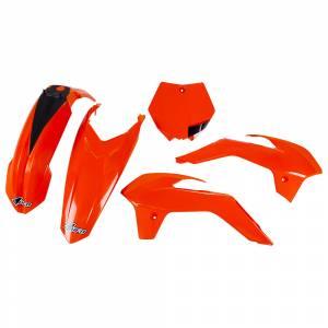 UFO KTM Plastic Kit Neon Orange