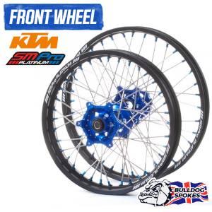SM Pro Platinum KTM Blue Front Bulldog Spokes