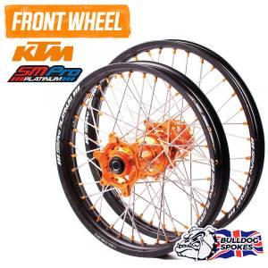 SM Pro Platinum KTM Orange Front Bulldog Spokes