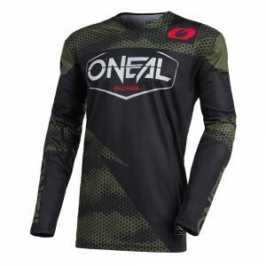ONeal Mayhem Covert Black Green Motocross Jersey