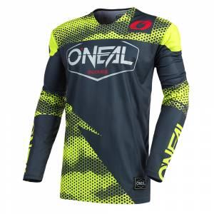 ONeal Mayhem Covert Charcoal Neon Yellow Motocross Jersey