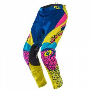 ONeal Mayhem Crackle 91 Yellow White Blue Motocross Pants