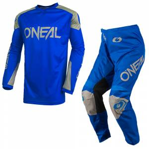 ONeal Matrix Ridewear Blue Grey Motocross Kit Combo