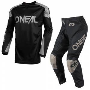 ONeal Matrix Ridewear Black Grey Motocross Kit Combo