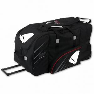 UFO Motocross Wheeled Black Gear Bag (Side)