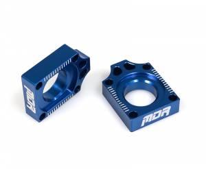 MDR Axle Blocks YZ 125 250 (99-08) YZF 250 (01-08) YZ 400 (99-00) YZF 426 (01-02) YZF 450 (03-08) WRF 250 (02-ON) WRF 426 (01-02) WRF 450 (03-ON)  WR 250 R/X (07-ON) Blue