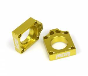 MDR Axle Blocks RMZ 250 RMZ 450 Yellow