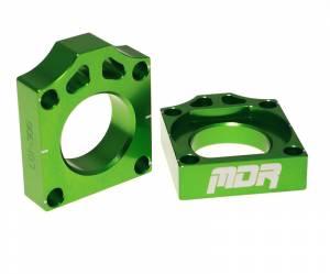 Axle Blocks KX 125 250 KXF 250 KXF 450 - Green